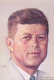 John F Kennedy fridge magnet